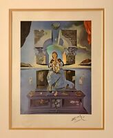 hand signed Dali 1963 year old print from a 1957 portfolio; Chagall, Picasso era