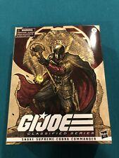Hasbro Gi Joe Classified Snake Supreme Cobra Commander Figure New In Box