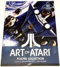 George Perez SIGNED Art of Atari Poster Collection Book / Portfolio w/ 40 Prints