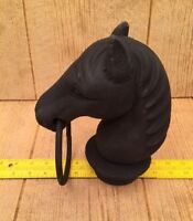 "Vintage Horse Head For Hitching Post Cast Iron 8 1/2"" tall Home Decor 0170-11617"