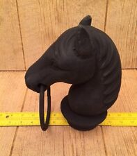 "Horse Head For Hitching Post Cast Iron 8 1/2"" tall Home Decor 0170S-11617"