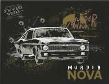 2017 Murder Nova signed Stainless Works '69 Chevy PRI Street Outlaws postcard