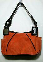 NWT TIGNANELLO Leather Handbag Purse Orange Brown S-M