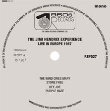 "THE JIMI HENDRIX EXPERIENCE LIVE IN EUROPE 1967 7"" 45 EP LIMITED VINYL RECORD"