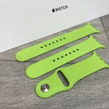 Genuine APPLE Watch Sport Band Strap GREEN 2015 42mm /44mm - RARE