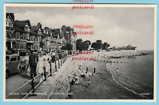 Promenade and Beach, Rhos on Sea. Nice 1950s scene. Published by Valentines