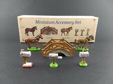 Liberty Falls Village Miniature Accessory Set Horses Bridge Mailboxes Ah51