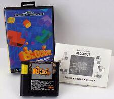 Sega Mega Drive MD-Blockout 3-d Arcade Action + instrucciones + embalaje original