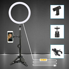 """10"""" Led Ring Light Dimmable 5500K Lamp Photography Camera Photo Phone Video"""