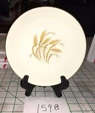"1598V  VINTAGE GOLDEN WHEAT CHINA SOUP BOWL  7.5"" 22K GOLD TRIM HOMER LAUGHLIN"