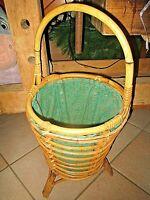 meuble vintage nécessaire à couture-travailleuse en bambou 1950-loisirs créatifs