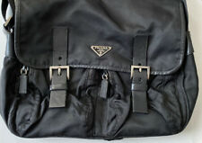 Authentic PRADA Nylon Leather Messenger Bag Double Pocket Tessuto for Parts