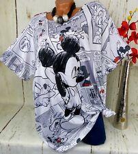Shirt Tunika Italy Bluse Top T-Shirt Longshirt Lustig Motiv Gerade Weiß 48 50 52