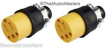 2X Extension Cord Replacement Electrical AC POWER SOCKET End Female Connector