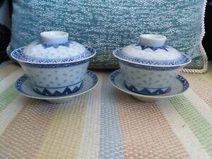 Chinese Tea cups porcelain China Porzellan Teetassen Gaiwan Jingdezhen Chinesisc