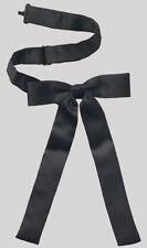 Mens New Black Satin Cummerbund Colonel Sanders Western Wyatt Horse String Tie