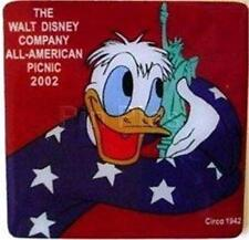 Donald Cast Member All American Picnic Statue Of Liberty Le 2500 Disney Pin