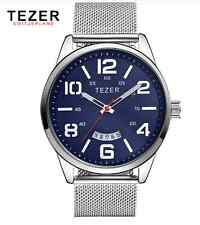 TEZER brand business quartz  watch (silver blue)