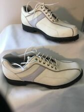 Callaway Golf Shoes Women's Size 5.5 M Leather White Laced Soft Spikes