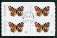 4 x Bund 2504 Viererblock VB a.MH gestempelt ETST Frankfurt BRD Schmetterlinge