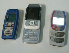 3 NOKIA Vintage Mobile Cell Phones (2300, 3100, 5300) for Spares or Repair