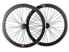 Deep V 50mm Fixie, Fixed Gear, Track, Single Speed Bike Wheels w. Flip Flop Hubs