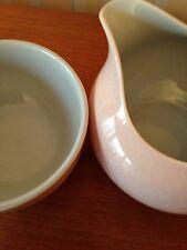 Poole Pottery Retro Matching Milk Jug & Sugar Bowl Beautiful condition  Vintage