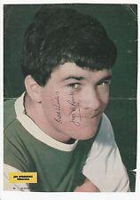 JIMMY O'ROURKE HIBERNIAN 1962-1974 ORIGINAL SIGNED MAGAZINE PICTURE CUTTING