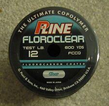 pline clear fluorocarbon line 12lb 600 yd NEW p line