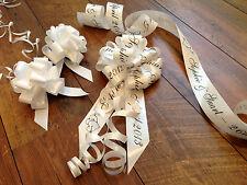 Personalised Wedding Car Ribbon Kit  All Colours Quality Ribbon and Handmade Bow