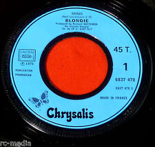 """Blondie - Denis/I Didn't have The Nerve To say No - Rare French Promo only 7"""""""