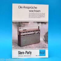 Stern-Party Koffersuper 1970 | Prospekt Werbung DEWAG Werbeblatt R37 DDR Radio J