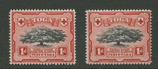TONGA 1942 1d TREE CONSTANT VARIETY...LONG DIAGONAL PLATE FLAWS...UM MINT