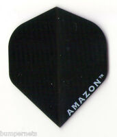New Standard Darts Flights 3 Set of 3 BLACK Ruthless Amazon For Steel or Soft