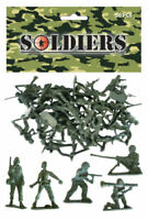 BAG OF 50 GREEN PLASTIC TOY SOLDIERS ARMY COMBAT PLATOON STORY PARTY FILLER UK
