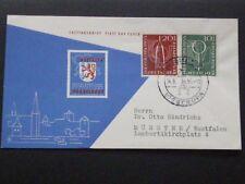 Bund FDC 1955, Mi. Nr. 217/18 postalisch gelaufen