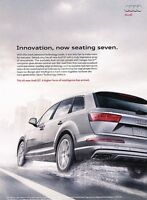 2016 Audi Q7 Original Advertisement Print Art Car Ad J547
