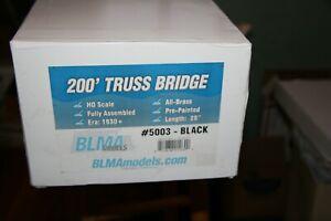 BRASS BLMA- 5003 200' TRUSS BRIDGE  BLACK  HO SCALE FROM ESTATE JL