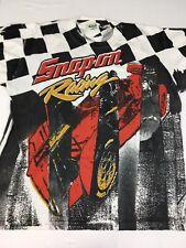 VTG Snap On Racing All over print Tee Men's XL NASCAR Checkered Flag Tool 90s
