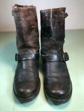 Women's Distressed Veronica Short Brown Frye Boots Size 8