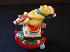 Midwest Cannon Falls Disney Pooh Ceramic Trinket Box Rocking Horse Ride