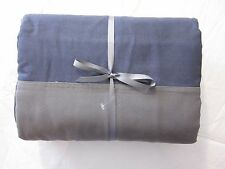 Restoration Hardware Teen Rugby Stripe Duvet Cover Full/Qn Charcoal/Navy/Green