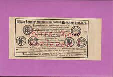 DRESDEN, Werbung 1920, Oskar Leuner Mechanisches Institut Zerreiß-Maschine