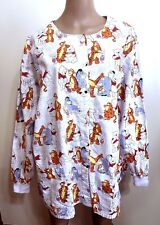 Disney Winnie the Pooh SCRUB JACKET Women's XXL 2X Long Sleeve