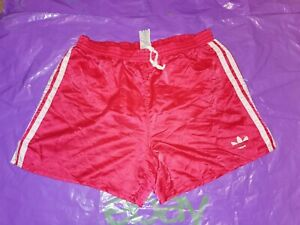 "Men's Adidas Sports Shorts Vtg Glanz nylon Football  gym fitness D6 M 34"" Red"