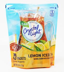 Crystal Light Lemon Iced Tea Drink Mix,16 Packets Makes 32 Quarts, Free Shipping
