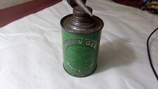 Vintage NOR-V-GEN SHOE OIL Can Handy Oil Tin