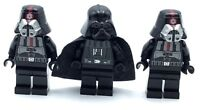 LEGO LOT OF 3 STAR WARS MINIFIGURES DARTH VADAR & IMPERIAL PILOT SITH LORD FIGS