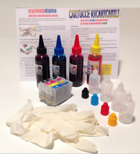 KIT 4 CARTUCCE RICARICABILI + 400 ML COLORE  PER STAMPANTI EPSON  Office BX305FW