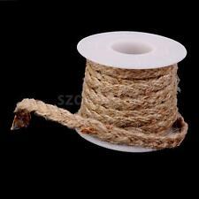 5M Hessian Jute Burlap Braided String Tape Ribbon Rope Wedding Craft Decor